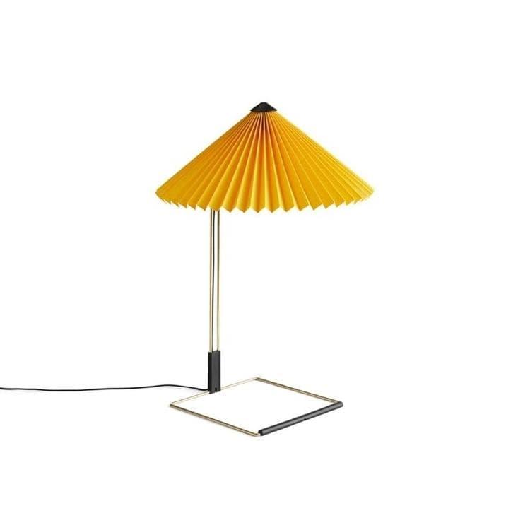 Hay Lampe à poser Hay MATIN SMALL-Lampe à poser LED Coton/Métal H38cm Jaune
