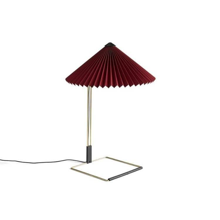 Hay Lampe à poser Hay MATIN SMALL-Lampe à poser LED Coton/Métal H38cm Rouge