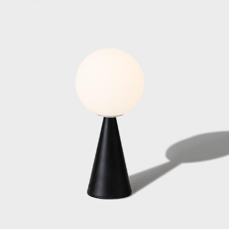 Fontana Arte Lampe à poser Fontana Arte BILIA MINI-Lampe à poser Verre/Métal H26cm Noir