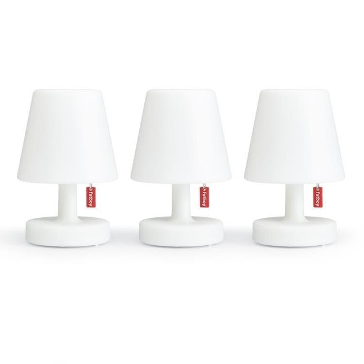 Fatboy Lampe à poser Fatboy EDISON THE MINI-Lot de 3 Lampe à poser LED rechargeable H15cm Blanc
