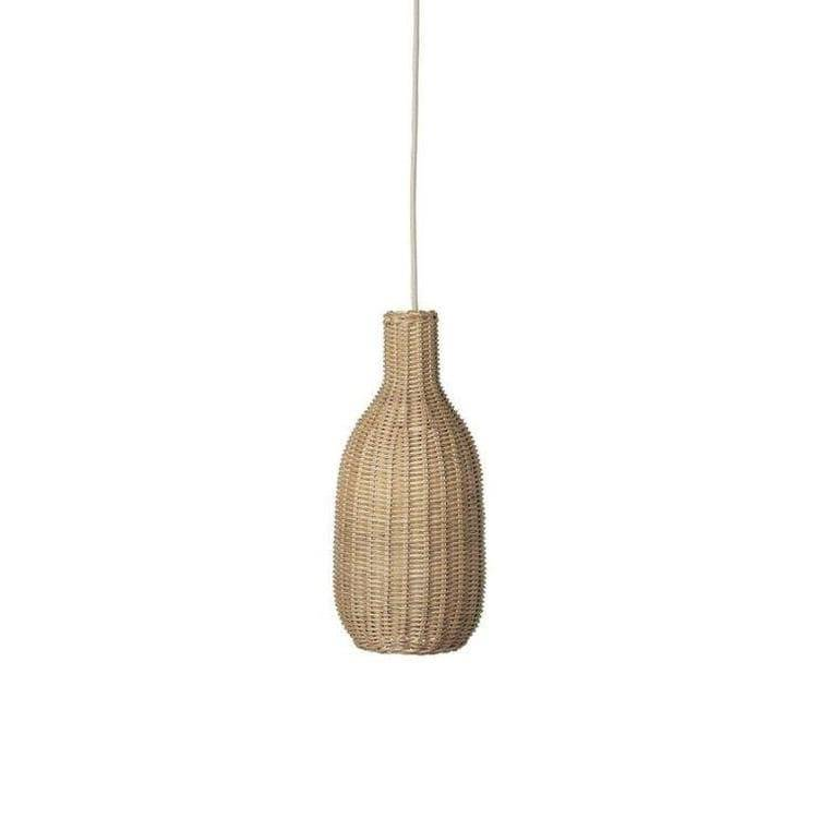 Ferm Living Suspensions et plafonniers Ferm Living BRAIDED-Suspension Rotin H38cm Beige