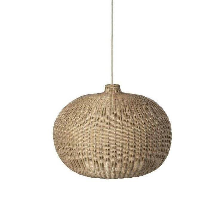 Ferm Living Suspensions et plafonniers Ferm Living BRAIDED-Suspension Rotin Ø54.5cm Beige
