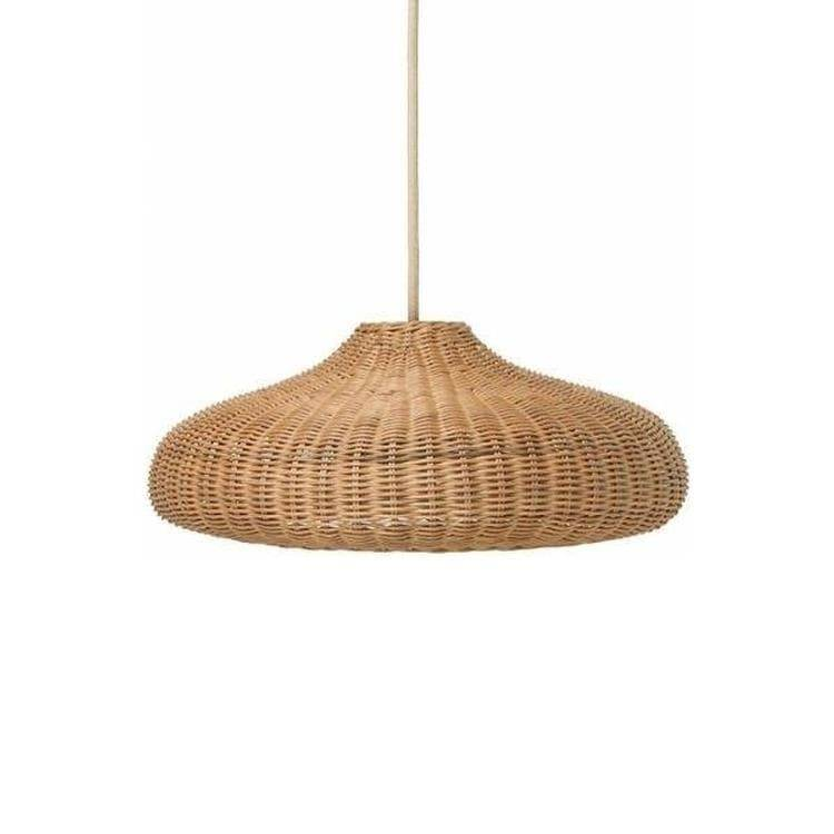 Ferm Living Suspensions et plafonniers Ferm Living BRAIDED-Suspension Rotin Ø49.5cm Beige
