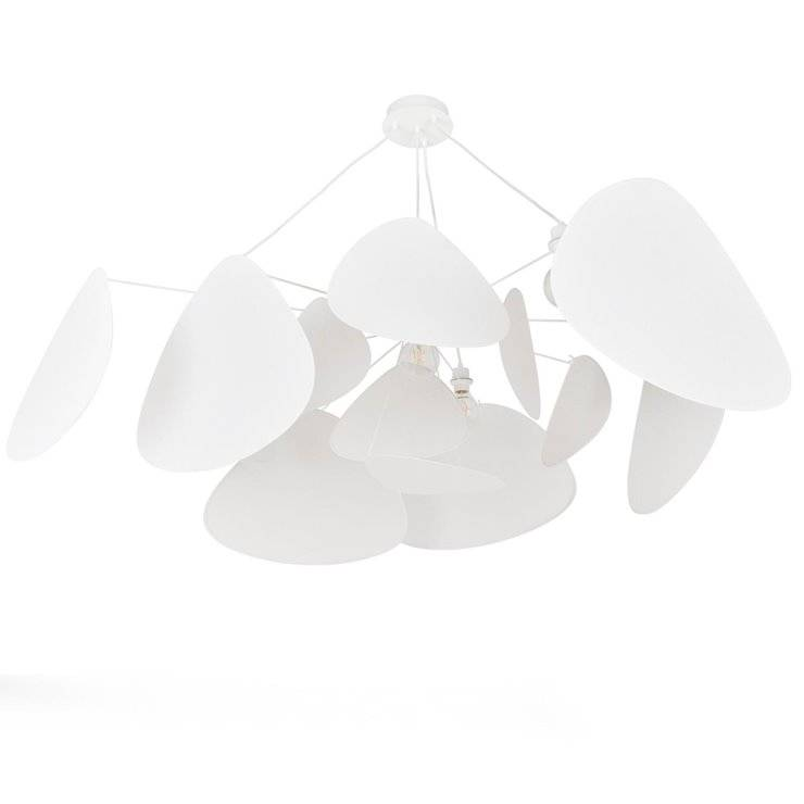 Market Set Suspension Market Set SCREEN MURANO-Suspension 4 lumières XXL Métal/Papier Murano Ø150cm H90cm Blanc