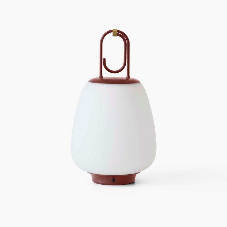 & Tradition Lampe à poser extérieur & Tradition LUCCA SC51-Baladeuse d'extérieur LED rechargeable avec variateur Métal/Verre H35cm Marron