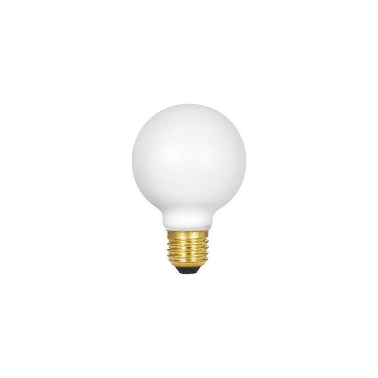 Tala Ampoule Tala SPHERE II-Ampoule LED Verre Dépoli Globe E27 Ø7.5cm 2000K à 2800K 8W = 70W 560 Lumens Dim To Warm