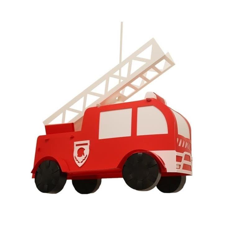 Rosemonde et Michel Coudert Suspension Rosemonde et Michel Coudert POMPIER-Suspension Camion de Pompier Polypropylène L42cm Rouge