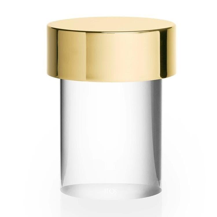 Flos Lampe à poser extérieur Flos LAST ORDER-Lampe à poser d'extérieur LED sans fil en Verre Transparent avec variateur H14cm Laiton