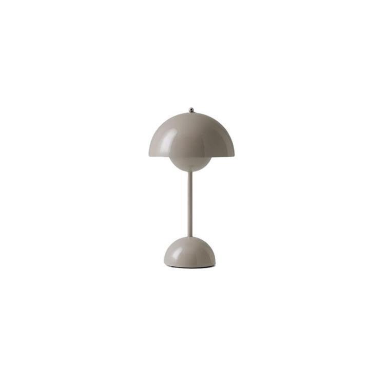 & Tradition Lampe à poser & Tradition FLOWERPOT VP9-Lampe à poser sans fil avec variateur tactile H29.5cm Gris