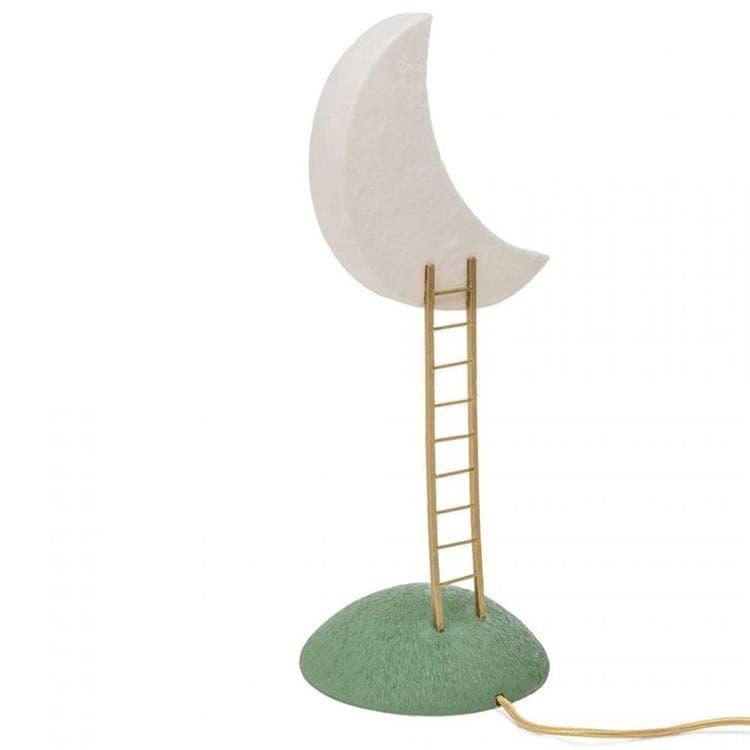 Seletti Lampe à poser Seletti MY SECRET PLACE-Lampe à poser Lune LED en résine H51cm Blanc