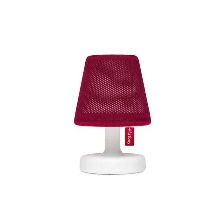 Fatboy Lampe à poser Fatboy EDISON THE PETIT HOODIE-Lampe à poser LED avec Abat jour Polyester rechargeable H25cm Rouge