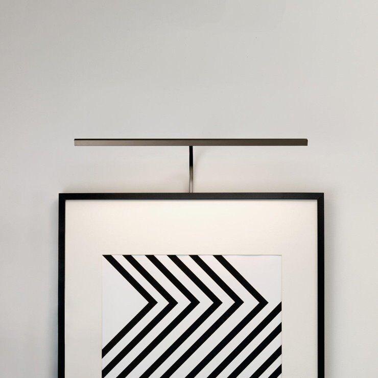 Astro Applique murale Astro MONDRIAN 600 FRAME MOUNTED LED-Applique LED pour tableau métal L60cm Doré
