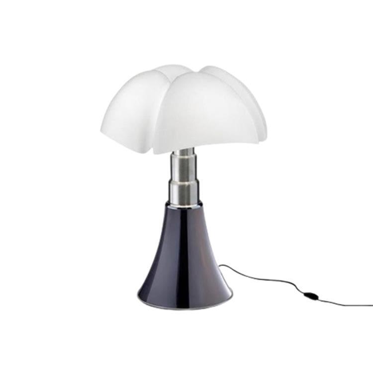 Martinelli Luce Lampe à poser Martinelli Luce MINI PIPISTRELLO-Lampe LED avec Variateur H35cm Argenté
