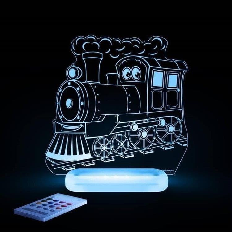 Aloka Veilleuse lumineuse Aloka TRAIN-Lampe-veilleuse LED H17cm Transparent