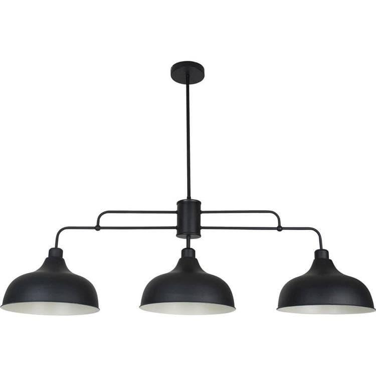 Corep Suspension Corep LINCOLN-Suspension 3 lumières Métal L112cm Noir