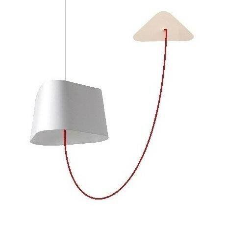 DesignHeure Suspension DesignHeure GRAND NUAGE-Suspension déportée Ø43cm Blanc