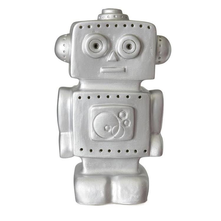 Egmont Toys Veilleuse lumineuse Egmont Toys ROBOT-Lampe à poser / Veilleuse LED Robot H38cm Argenté