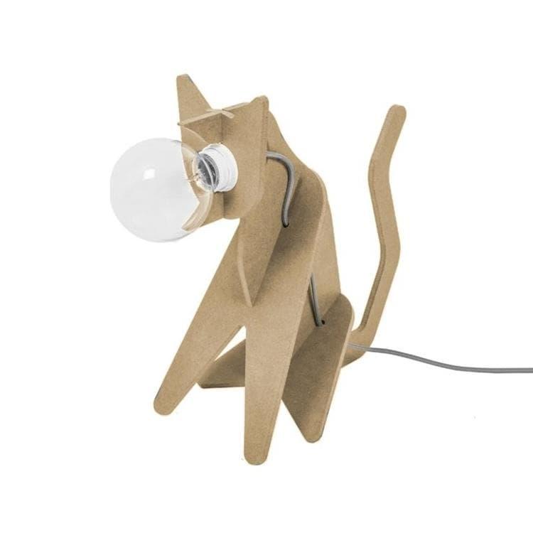ENO Studio Lampe à poser ENO Studio GET OUT-Lampe à poser Chat H35cm Bois