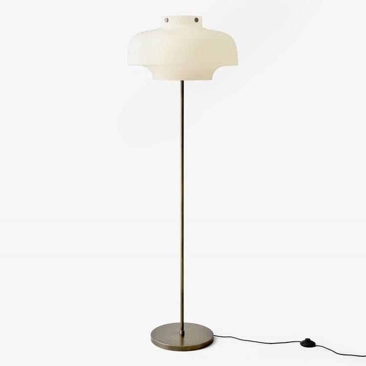 & Tradition Lampadaire & Tradition COPENHAGEN-Lampadaire Bronze/Verre H150cm Blanc