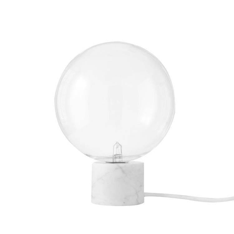 & Tradition Lampe à poser & Tradition MARBLE LIGHT-Lampe à poser Marbre/Verre Ø16cm Blanc