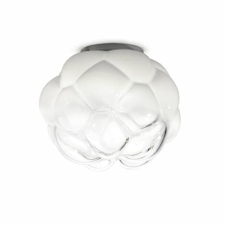 Fabbian Plafonnier Fabbian CLOUDY-Plafonnier LED de salle de bain Verre Ø40cm Blanc