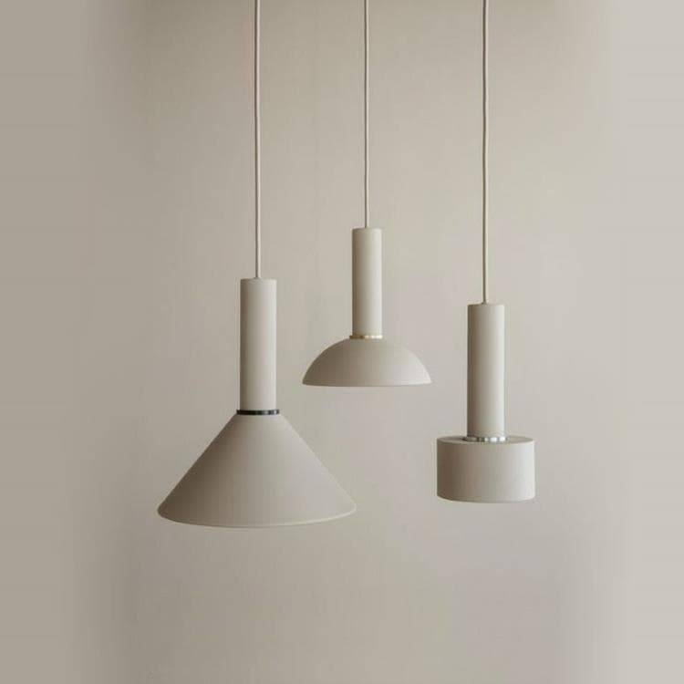 Ferm Living Suspensions et plafonniers Ferm Living COLLECT-Suspension Basse Disque Ø12cm Beige