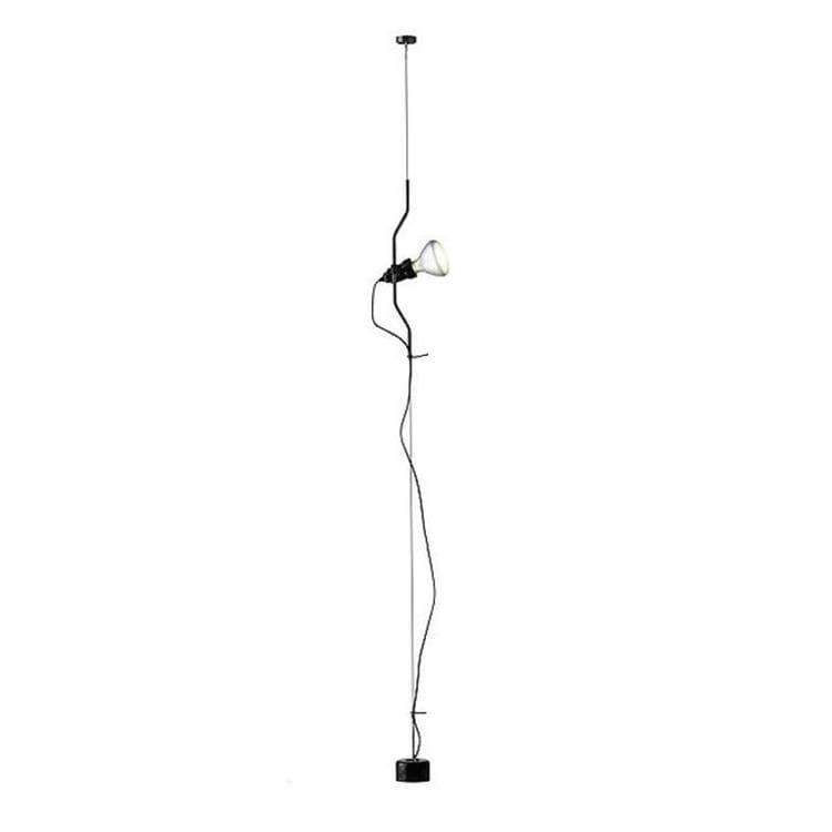Flos Spot Flos PARENTESI-Spot sur câble vertical H180-400cm Noir