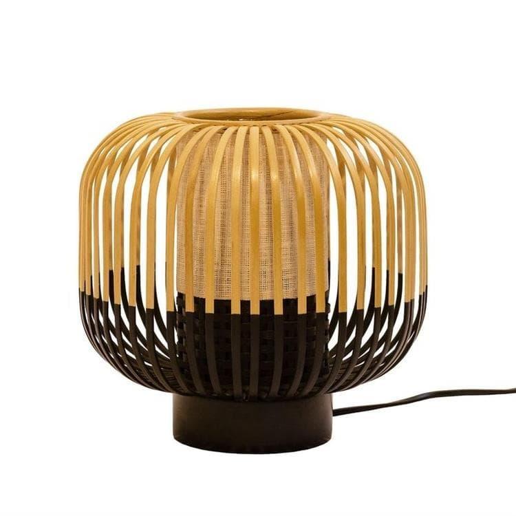 Forestier Lampe à poser Forestier BAMBOO-Lampe à poser Bambou/Noir H24cm Noir