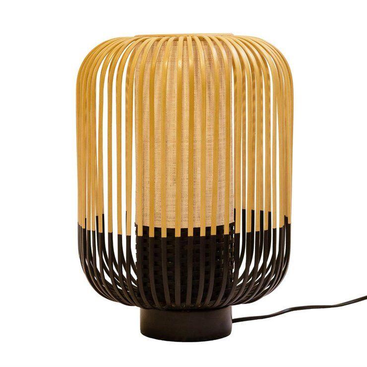 Forestier Lampe à poser Forestier BAMBOO-Lampe à poser Bambou H39cm Noir