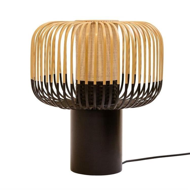 Forestier Lampe à poser Forestier BAMBOO-Lampe à poser Bambou/Noir H40cm Noir