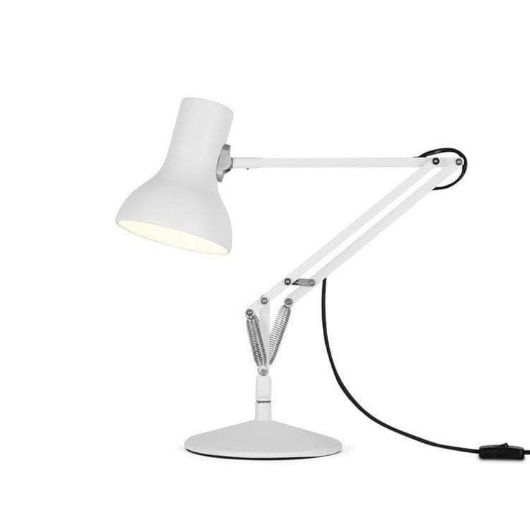 Anglepoise Lampe à poser Anglepoise TYPE 75 MINI-Lampe de bureau articulée H40-70cm Blanc