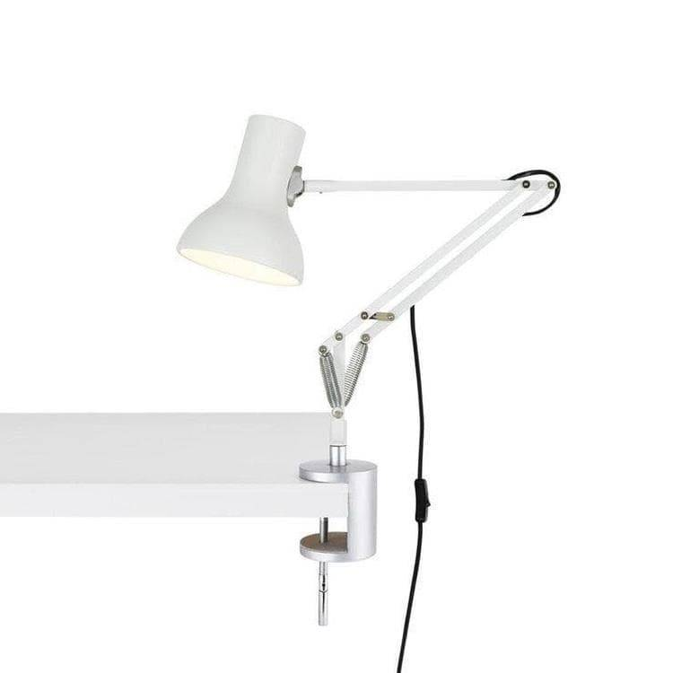 Anglepoise Lampe à poser Anglepoise TYPE 75 MINI-Lampe de bureau articulée à étau H40-70cm Blanc