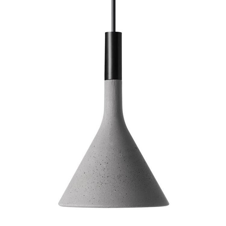 Foscarini Suspension Foscarini APLOMB MINI-Suspension Ciment ampoule LED Ø11,5cm Gris