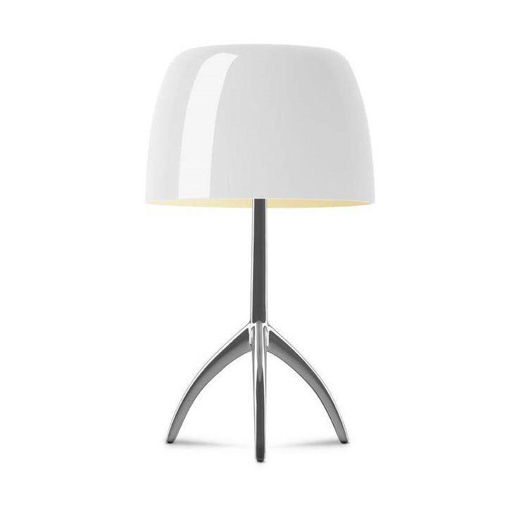 Foscarini Lampe à poser Foscarini LUMIERE GRANDE-Lampe à poser Tripode Métal & Verre H45cm Beige