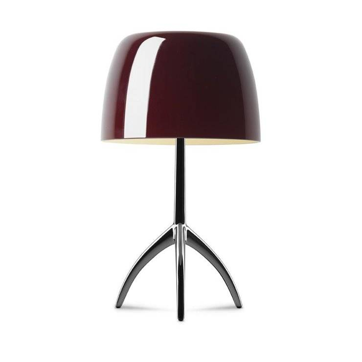 Foscarini Lampe à poser Foscarini LUMIERE GRANDE-Lampe à poser Tripode Métal & Verre avec Variateur H45cm Rouge