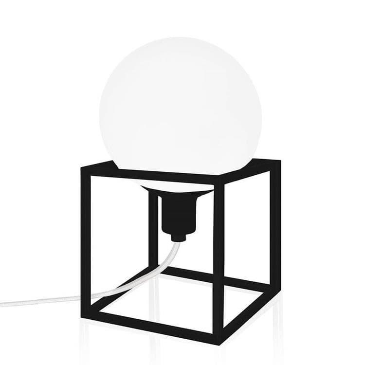 Globen Lighting Lampe à poser Globen Lighting CUBE-Lampe à poser Verre/Métal H24cm Noir