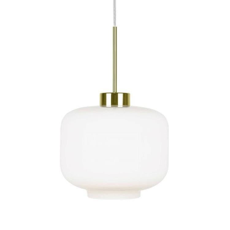 Globen Lighting Suspension Globen Lighting RITZ-Suspension Verre/Métal Fumé/Noir Ø25cm Blanc
