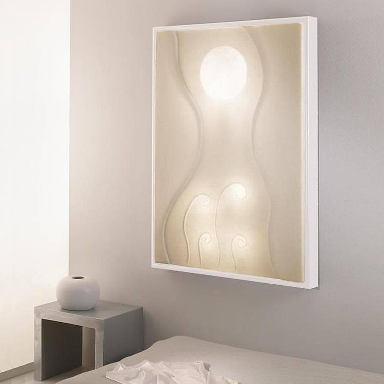 In-es Artdesign Applique murale In-es Artdesign LUNAR DANCE-Applique/Tableau lumineux Blanc