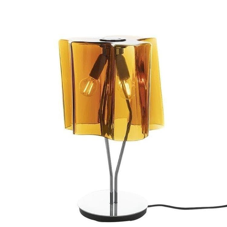 Artemide Lampe à poser Artemide LOGICO-Lampe à poser Verre H44cm Orange