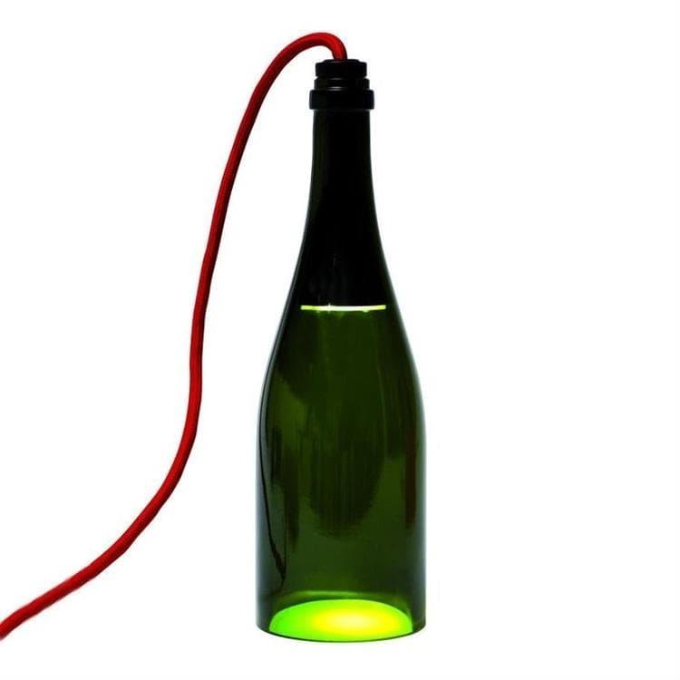 L'Atelier du Vin Lampes à poser L'Atelier du Vin BOUTEILLE TORCHE-Lampe à poser LED H29cm Vert