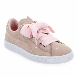 Puma Baskets  Puma      SUEDE HEART VALENTINE JR      rose      pour Enfant fille