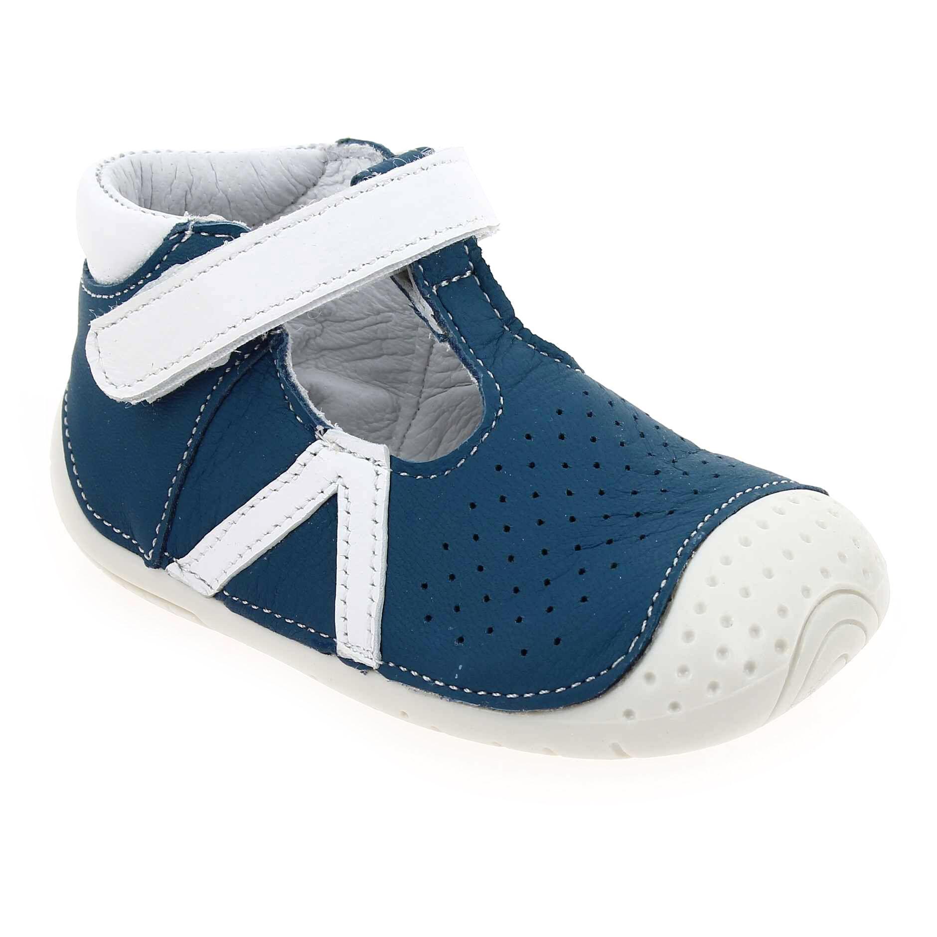 Babybotte Promo - Babybotte ZAO Bleu pour Enfant garçon, Bébé garçon en Cuir - Cuir - 18