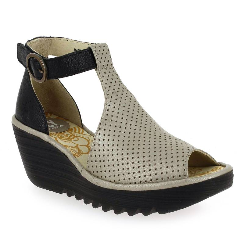 Fly London Sandales et nu-pieds Fly London YALL argent pour Femme taille : 36, 37, 38, 39, 40