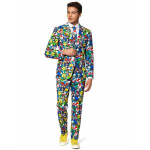 VegaooParty Costume Mr. Super Mario adulte Opposuits - Taille: M (EU 50) - Publicité