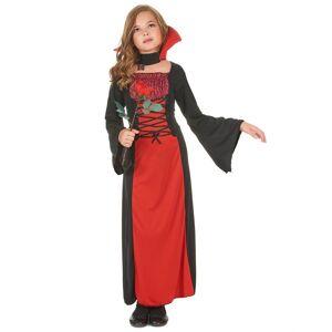 VegaooParty Déguisement vampire long fille Halloween - Taille: L 10-12 ans (130-140 cm)