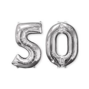 VegaooParty Ballons aluminium argent chiffre 50 66 cm