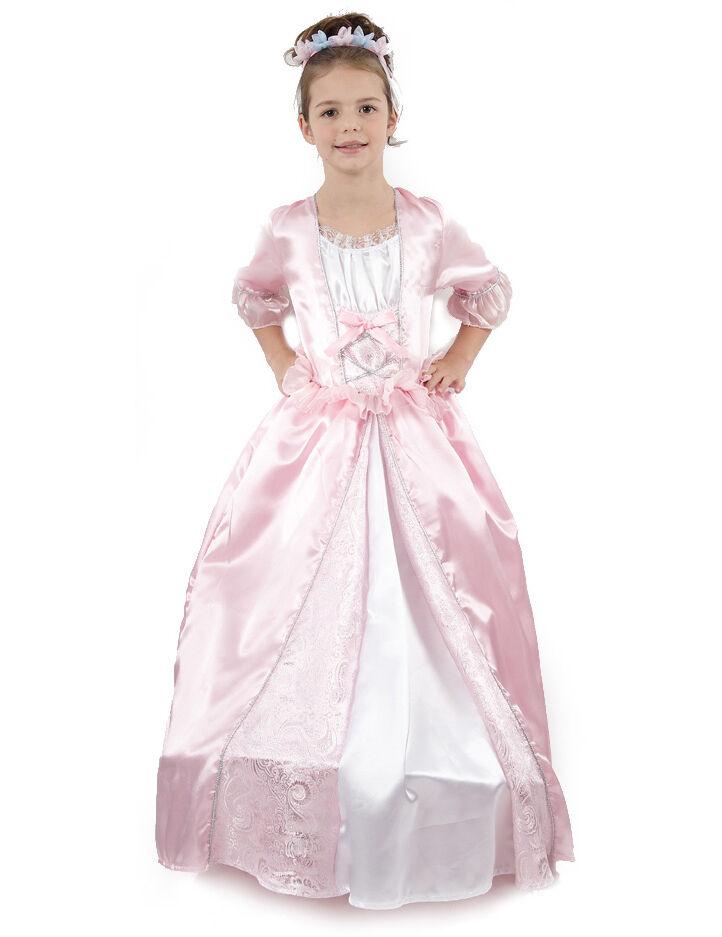 VegaooParty Déguisement princesse avec une couronne à fleurs fille - Taille: M 7-9 ans (120-130 cm)