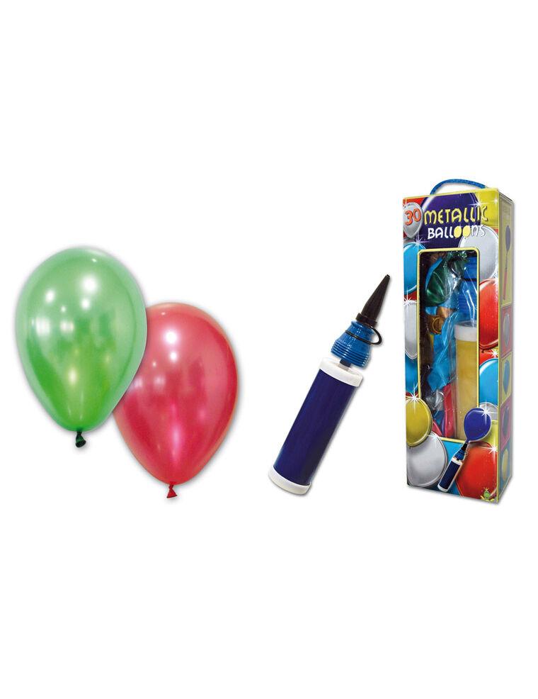 VegaooParty 25 Ballons métalliques avec pompe