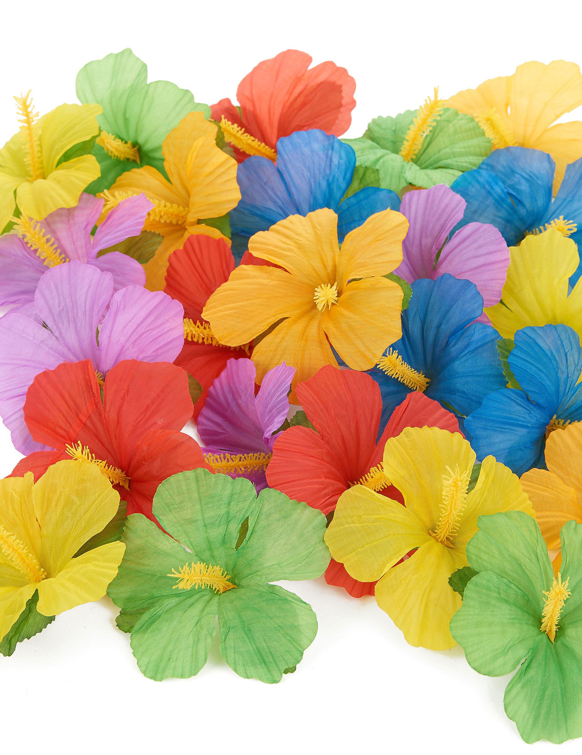VegaooParty 24 fleurs hawaïennes