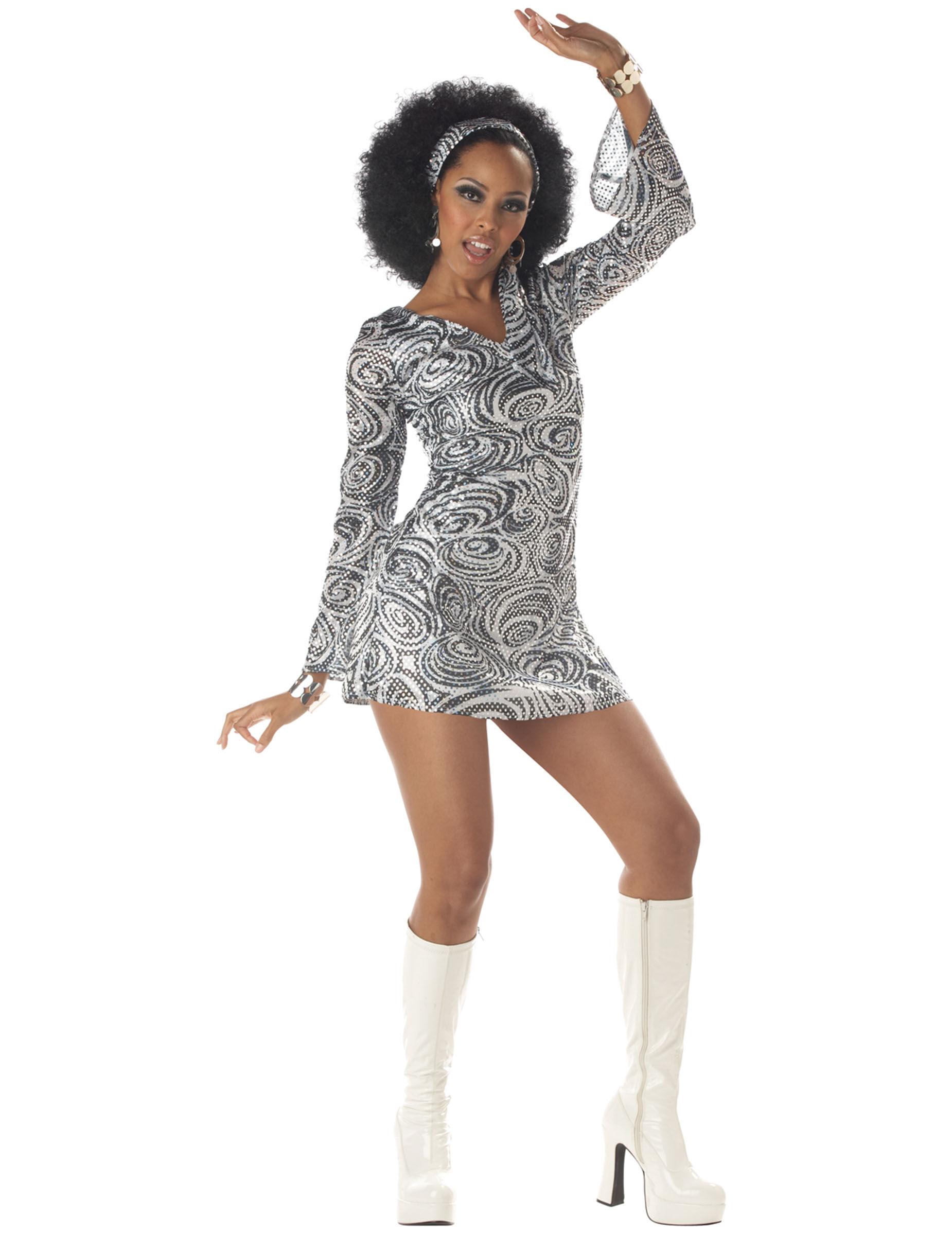 VegaooParty Déguisement Diva Disco pour femme - Taille: M (40/42)